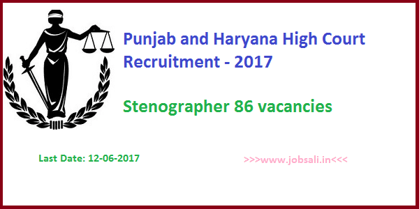 stenographer vacancy in high court, high court of punjab and haryana