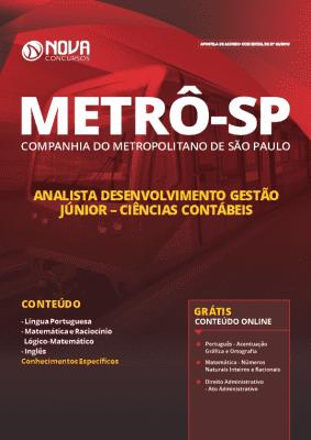 Apostila Metrô SP 2019 Ciências Contábeis PDF e Impressa