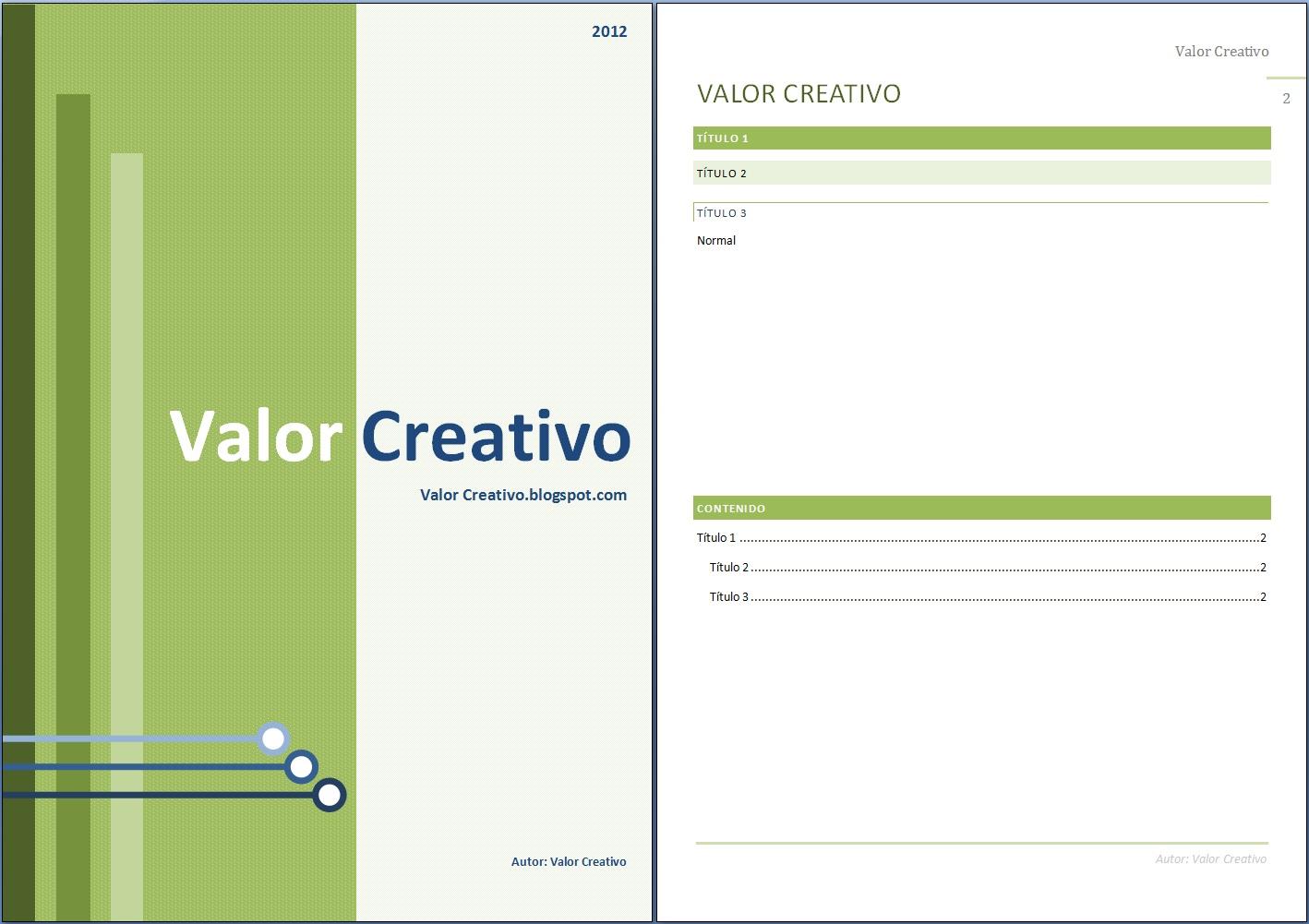 valor creativo plantilla word 2003 2007 y 2010 junio 2012