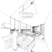 川の広がりを取込む立体的内部空間の狭小都市型住宅