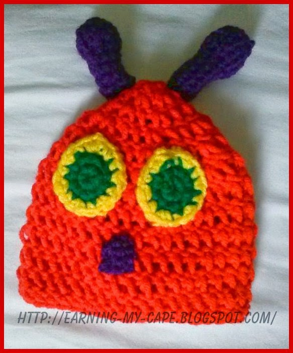Crochet Caterpillar Hat Pattern : Oui Crochet: Newborn Caterpillar Hat and Cocoon {Free ...
