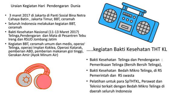 Cegah Generasi Hahh?! Indonesia Mendengar, Indonesia Gemilang: Hari Pendengaran Sedunia 2017