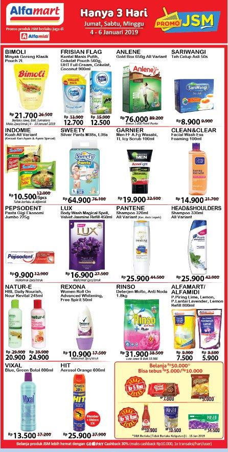 #Alfamart - Promo Katalog JSM Periode 04 - 06 Januari 2019