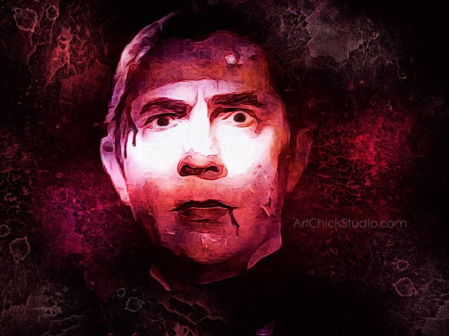Dracula Digital Art Creation