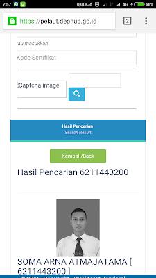 tampilan online sertifikat BST