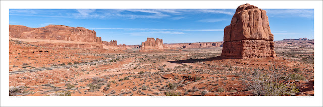 Arches National Park wide panoramic photo prints for sale, Jean-Christophe Benoist wikipedia Owen Art Studios Panoramas