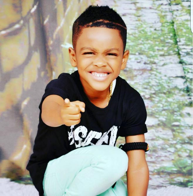 Angela Okorie shares pictures of cute son who clocked +1 today