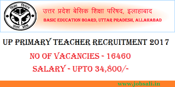 UP Basic Education Board, UPBEB Recruitment 2017, Up basic shiksha parishad