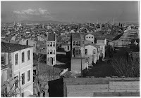 View from Edirne Kapı (Gate Charisiou or Polyandroy Gate from where it is said that Mohammed the Conqueror entered)  towards the Fatih Camii, 1935. From the top of Edirne Kapı at one of the highest points of the Byzantine walls, Artamonoff photographed the city on the verge of transformation [Credit: © Nicholas V. Artamonoff Collection, Image Collections and Fieldwork Archives, Dumbarton Oaks]