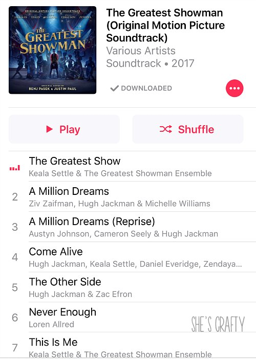 the greatest showman sound track