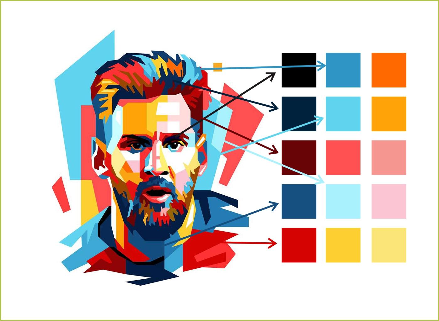 Cara Membuat Palet Warna dari Gambar WPAP di CorelDRAW | Belajar CorelDRAW - Belajar CorelDRAW