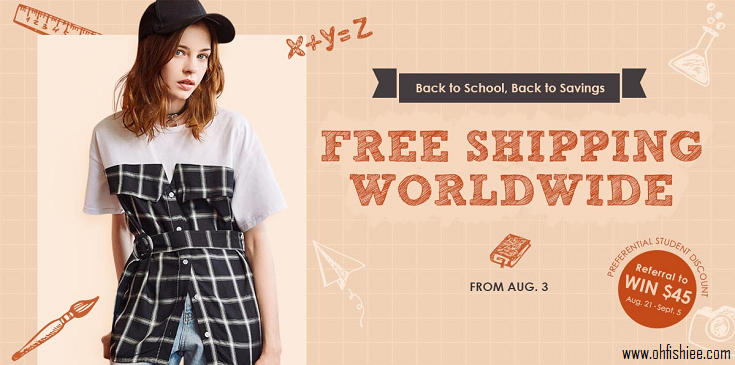 ZAFUL PROMOTION BACK TO SCHOOL