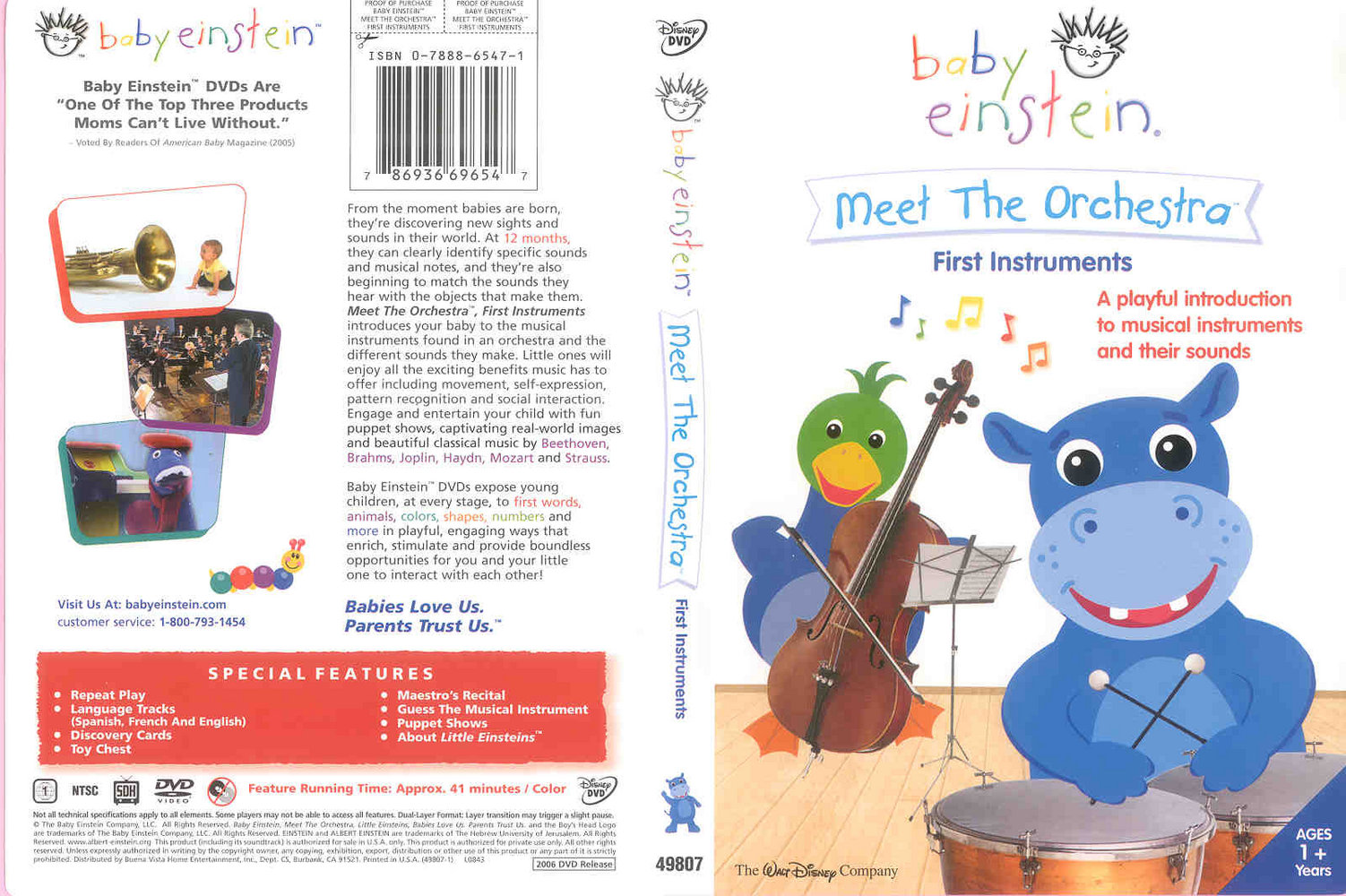 baby einstein meet the orchestra dvd opening on lego