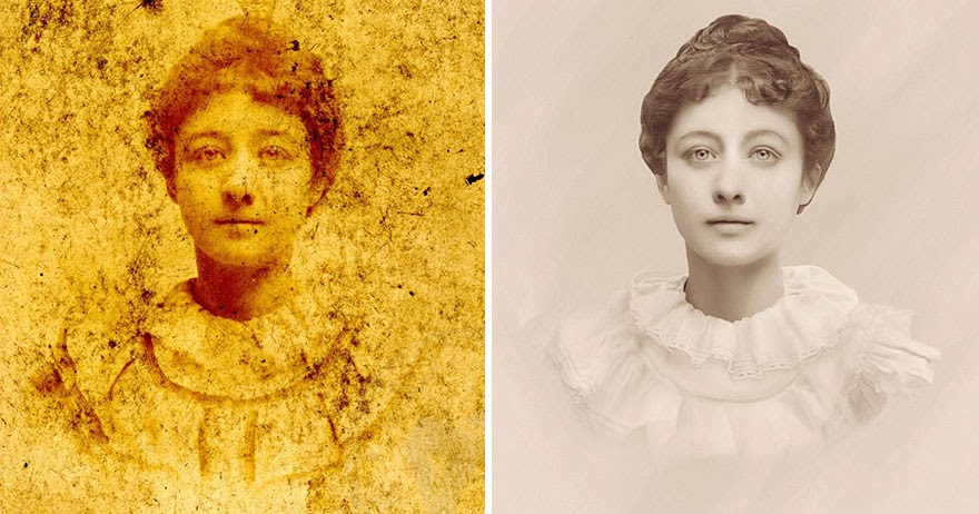 Ukrainian Digital Artist Flawlessly Restores Heavily Damaged Vintage Photos, And Brings Them Back to Life!