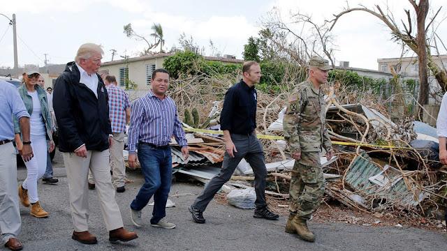 """Trump considera """"fantástico"""" el trabajo realizado en Puerto Rico a pesar de las 3.000 muertes"""