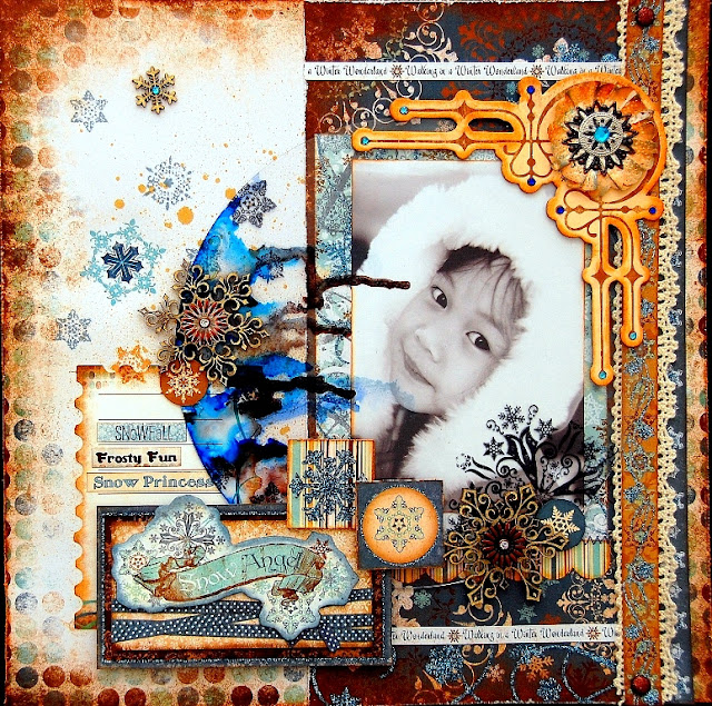 Snow Angel Layout by Irene Tan