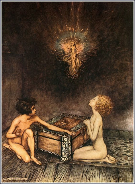 Pandora, Epimetheus and Hope Arthur Rackham