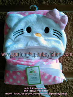 Selimut Bayi Lucu Bertopi Hello Kitty