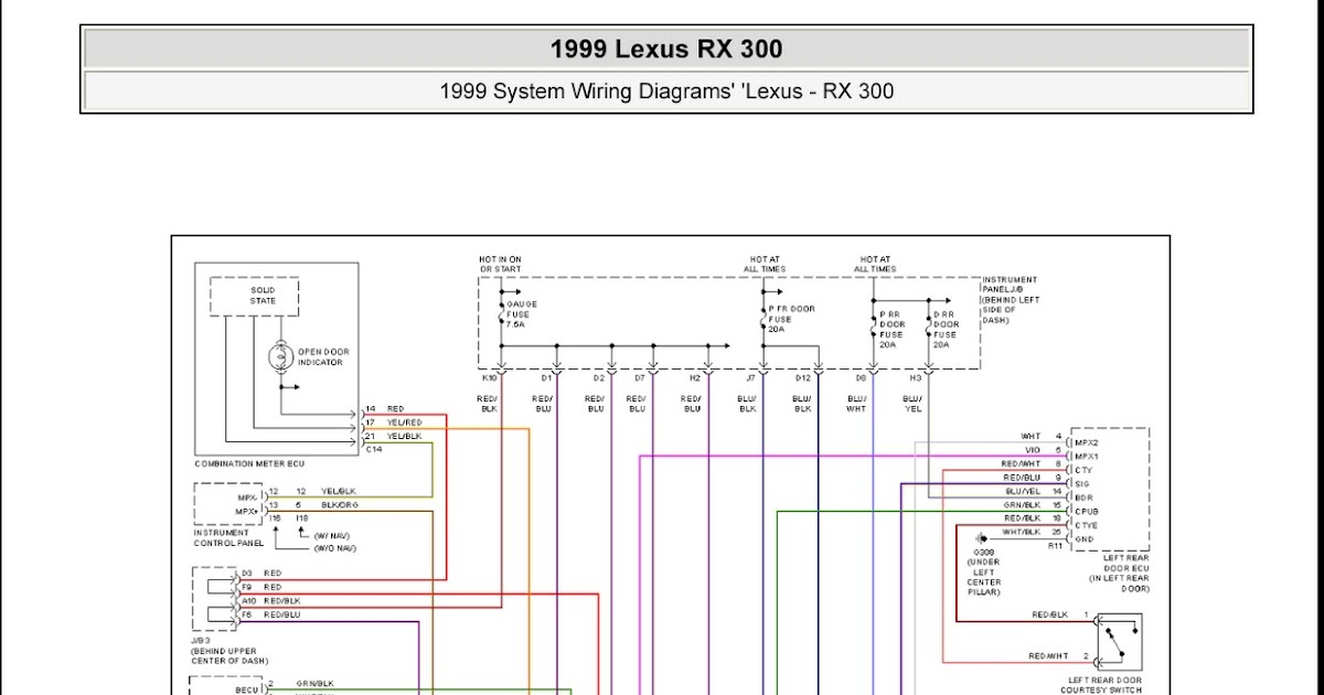 car of cars 1999 lexus rx 300 system wiring diagrams. Black Bedroom Furniture Sets. Home Design Ideas