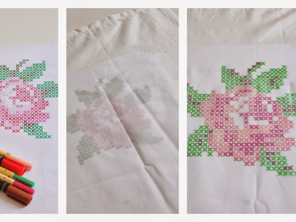 DIY Punto Croce Disegnato / DIY Paint Cross Stitch