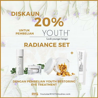 discount 20% on radiance set youth shaklee