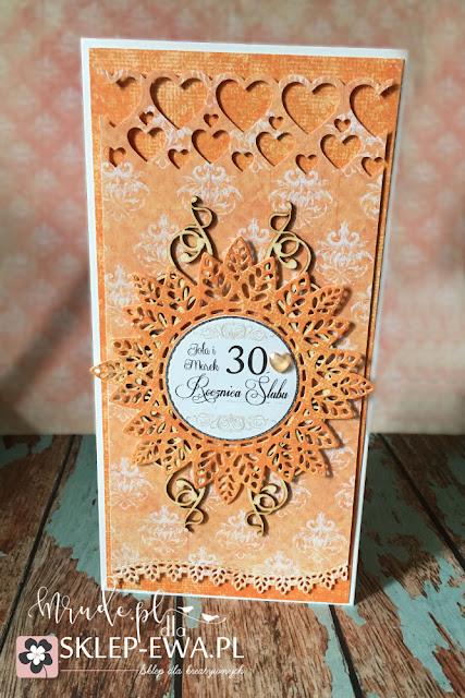 Kartka na roczicę, kartka ręcznie robiona