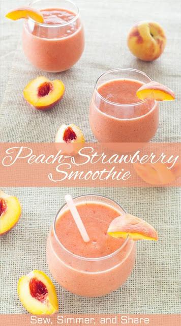 Peach-Strawberry Smoothie