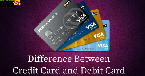 difference between credit card and debit card  bank exams