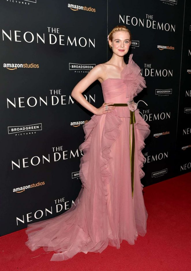 Elle Fanning at 'The Neon Demon' premiere in NY