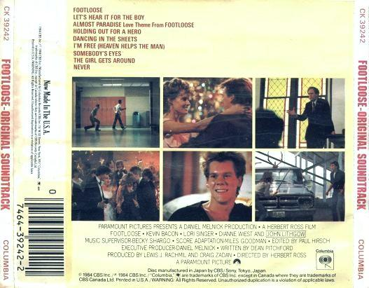 Music Rewind Va Footloose Original Motion Picture Soundtrack 1984