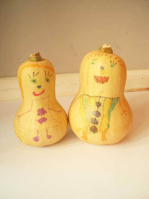 decorated squash vegetables