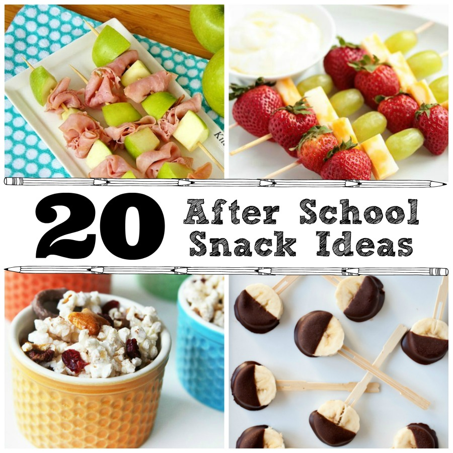 20 After School Snack Ideas - The Crafted Sparrow