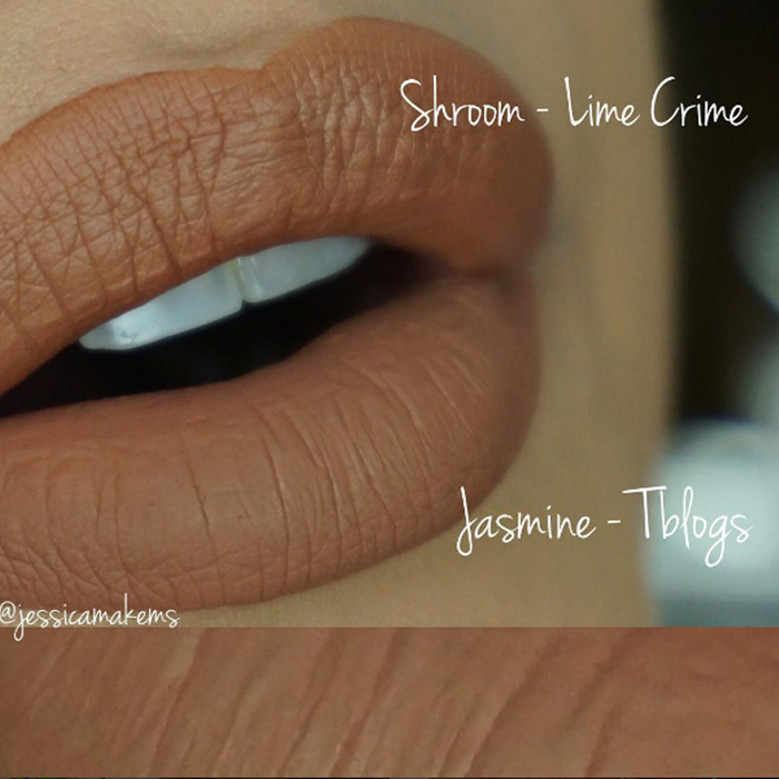 Dupe do batom Shroom da Lime Crime