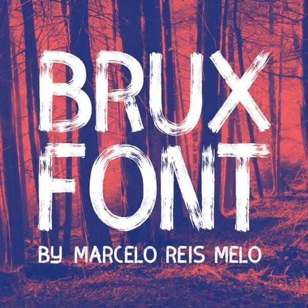 Brush font terbaik 2017 - BRUX – Free Brush Font