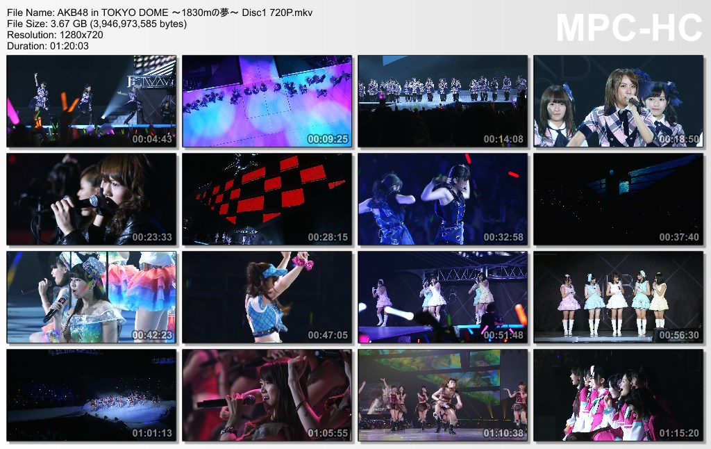 AKB48 in Tokyo Dome 1830mの夢 BDRip 720p Subtitle Indonesia