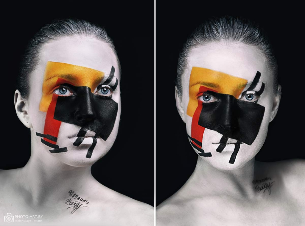 09-Suprematism-Tatiana-Jablonskaya-Oksana-Vinogradova-Body-Painting-and-Famous-Art-come-Together-www-designstack-co