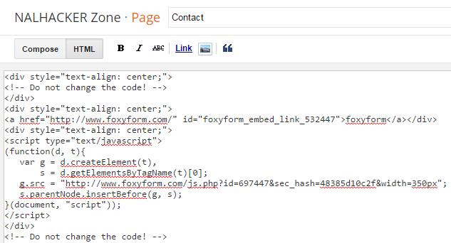 Cara Membuat Contact Form Pada Blog Dengan Foxyform