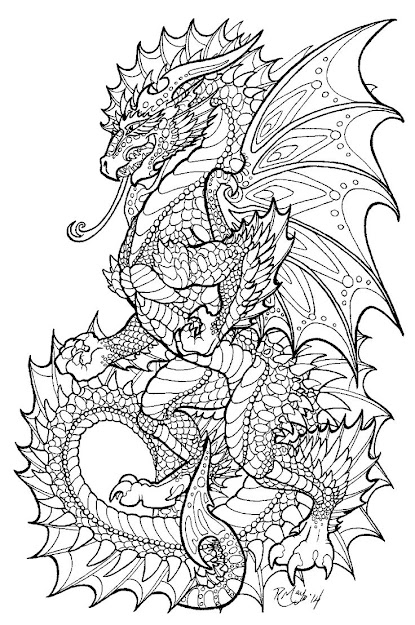 Edit September At The Publisher Kaleidoscopias Request All Images From  The Dragon Adventure Coloring Book Will Be Replaced With Onyx Herald  Lineart