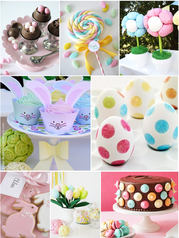 Very Last Minute Easter Party Ideas - via BirdsParty.com