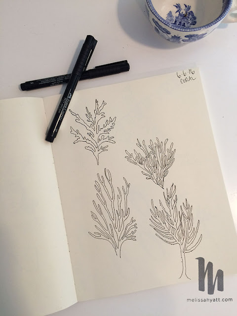 sketchbook, pen drawing, sketches, Melissa Hyatt, Sketchbook Conversations