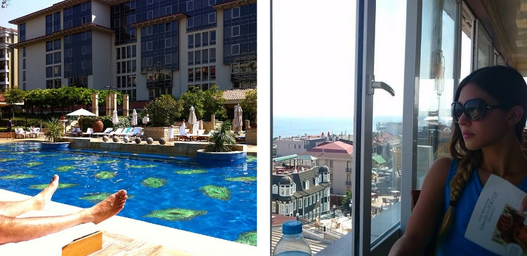 Euriental | Four days in Istanbul, Turkey. Pool at the Grand Hyatt.