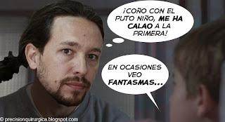 Viñeta Humor Pablo Iglesias-Sexto Sentido por Paco Herrera