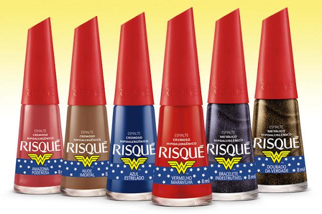 Novo lançamento da Risqué traz embalagem inspirada na Mulher Maravilha