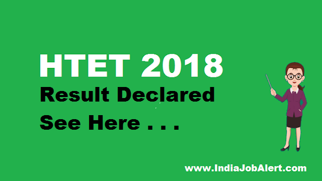 HTET December 2018 Exam Result  ||  See Here
