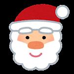 クリスマスの顔マーク(サンタクロース)