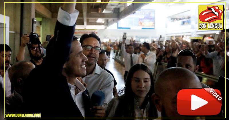 Guaidó se burló de los colectivos que lo acosaron a la salida de la AN