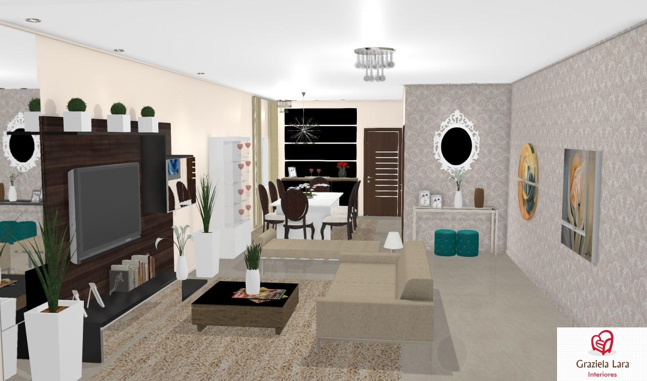 Construindo Minha Casa Clean Consultoria De Decora O Salas  -> Sala De Estar Em L Decorada