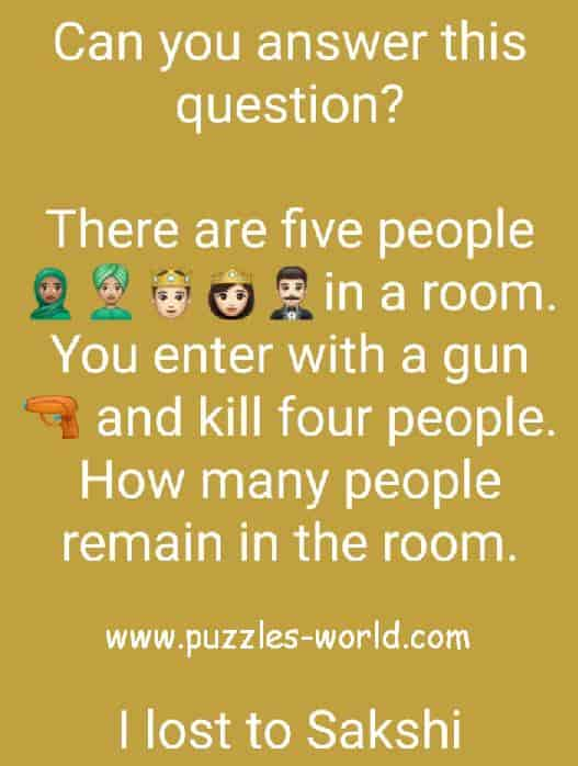 There are five people in a room puzzle