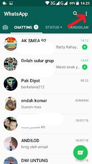 bersihkan semua chat di whastapp