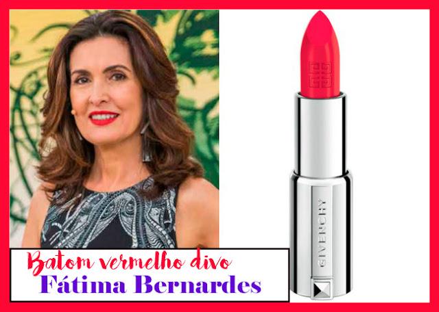 Descubra o batom de Fátima Bernardes no programa Encontro